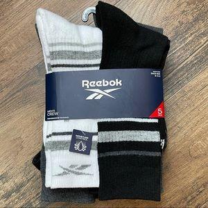 NWT REEBOK Men's Crew Performance Training Socks